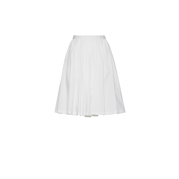 Stretch cotton circle skirt