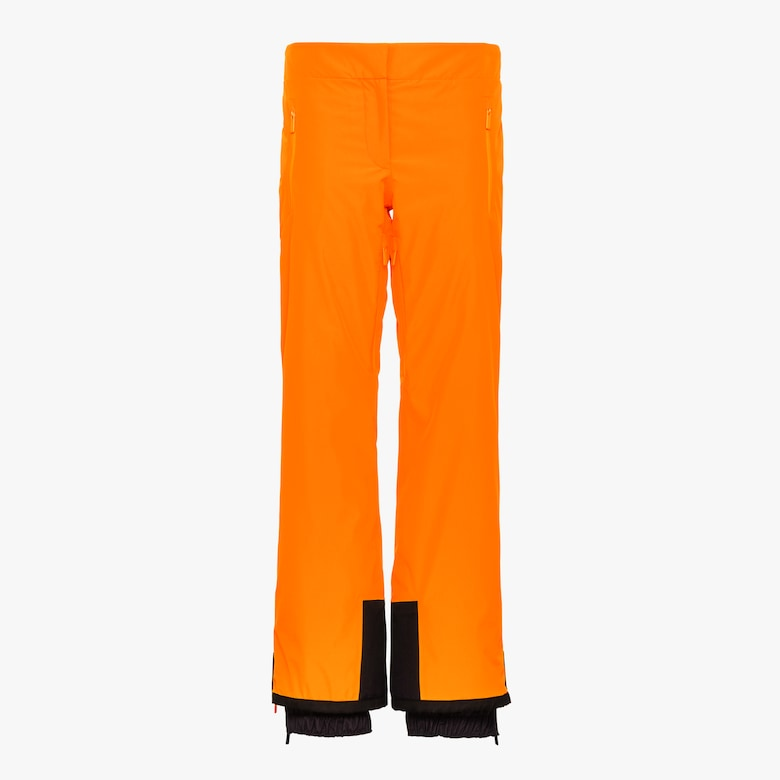 Technical fabric ski trousers