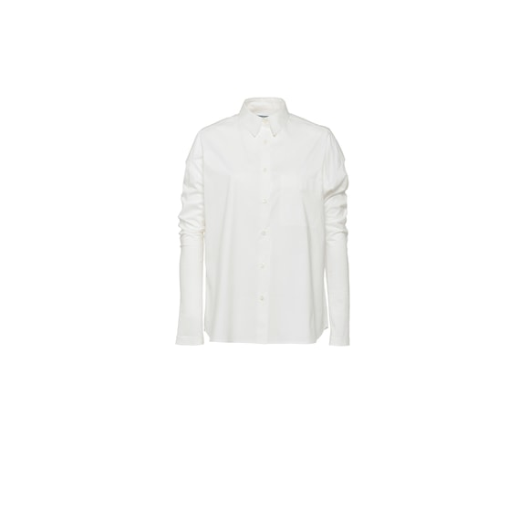 Stretch cotton and jersey shirt