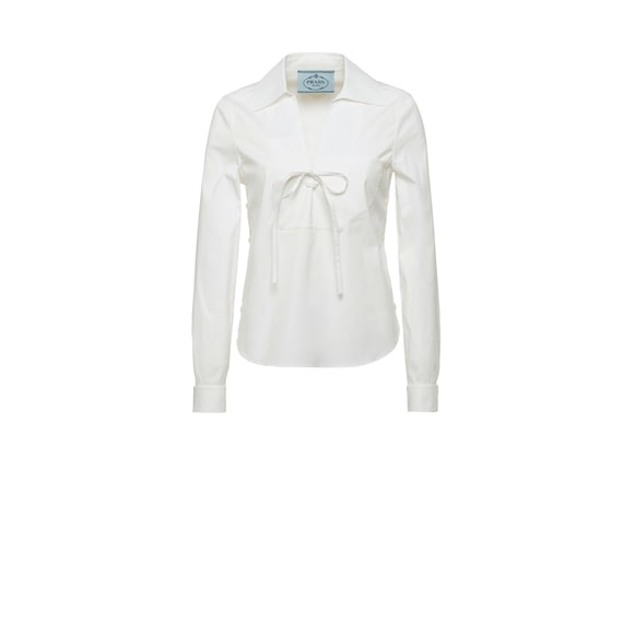 Blouse en coton stretch