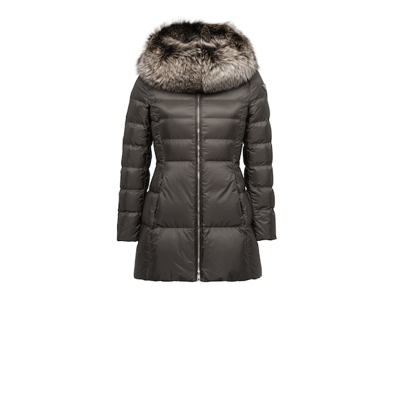 Fur-Trimmed Nylon Down Jacket