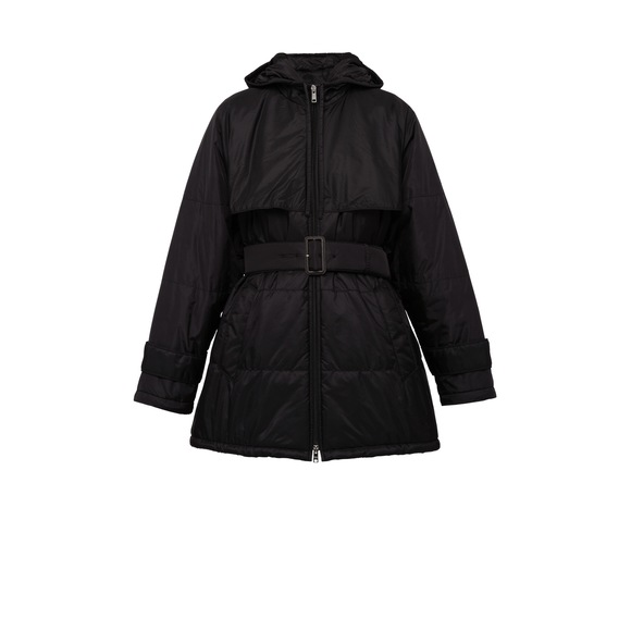 Nylon Caban Jacket With Hood