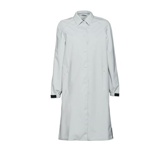 Technical fabric raincoat