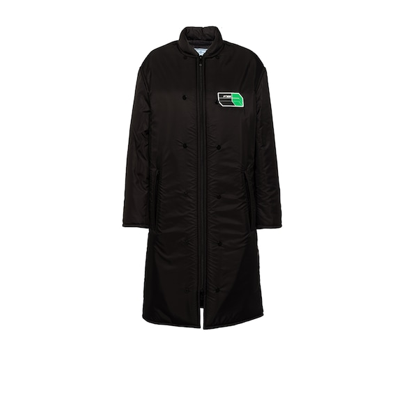 Padded feather nylon coat
