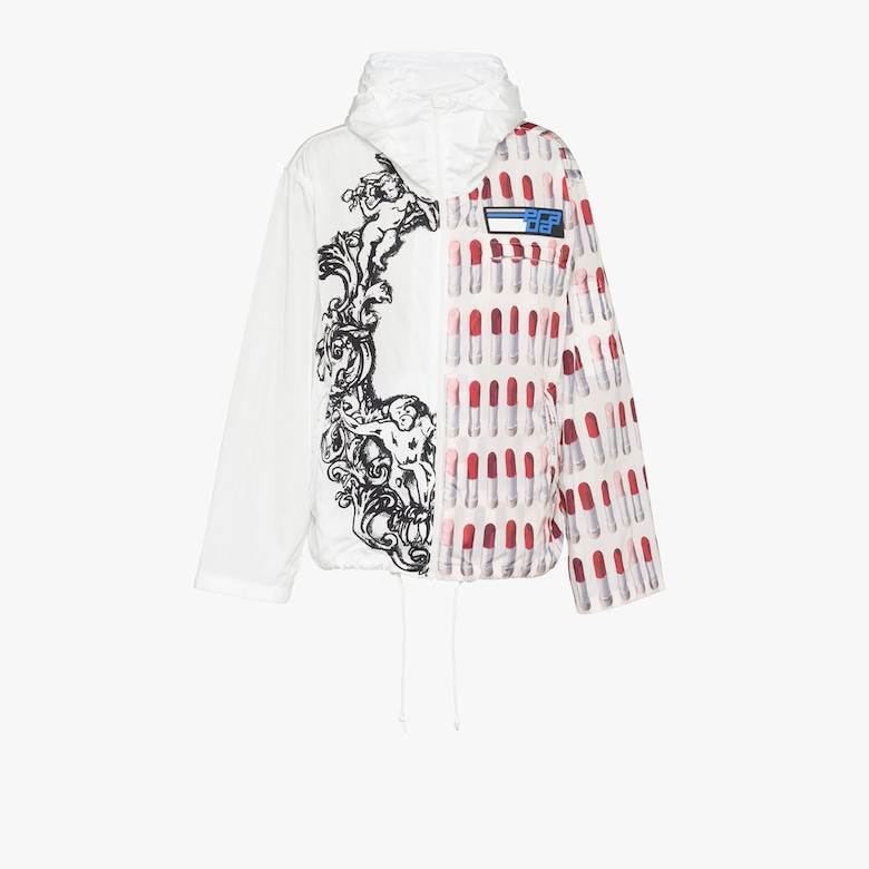 Printed feather nylon jacket