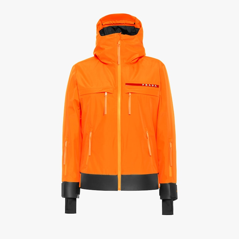 Technical fabric ski jacket