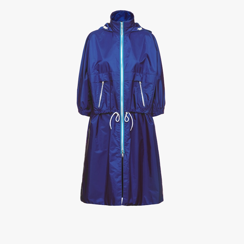 Feather nylon raincoat