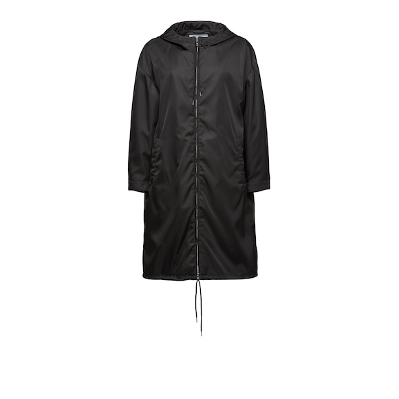 Nylon raincoat with hood