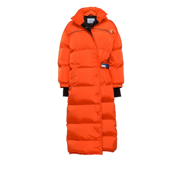 Feather Nylon puffer coat