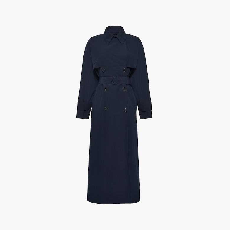 Technical poplin trench coat