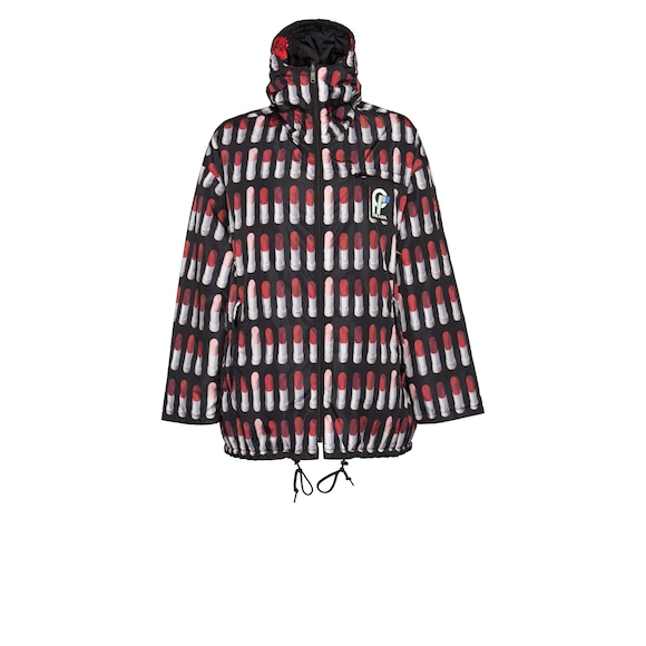 Reversible feather nylon caban jacket