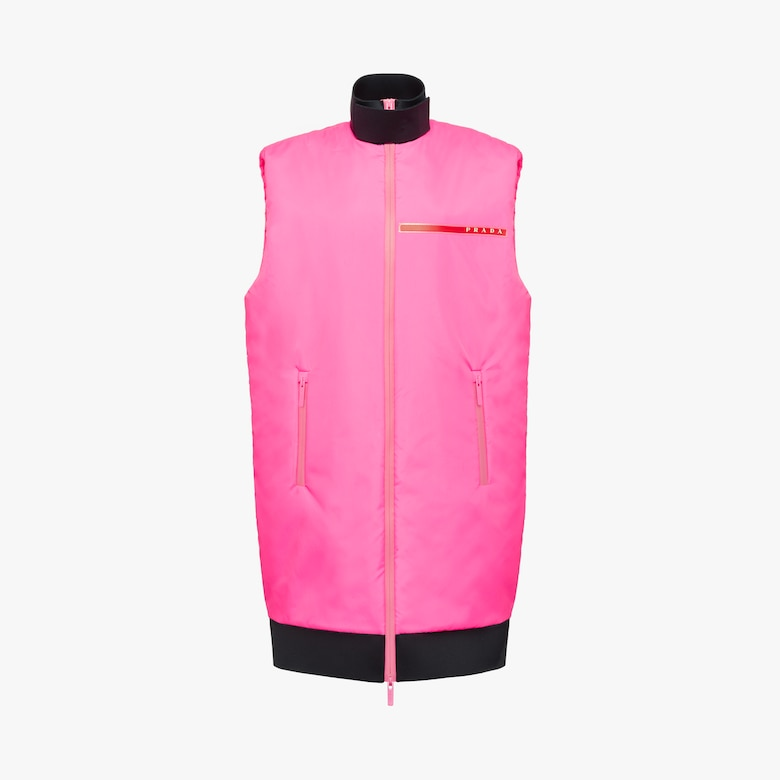 Padded technical fabric vest