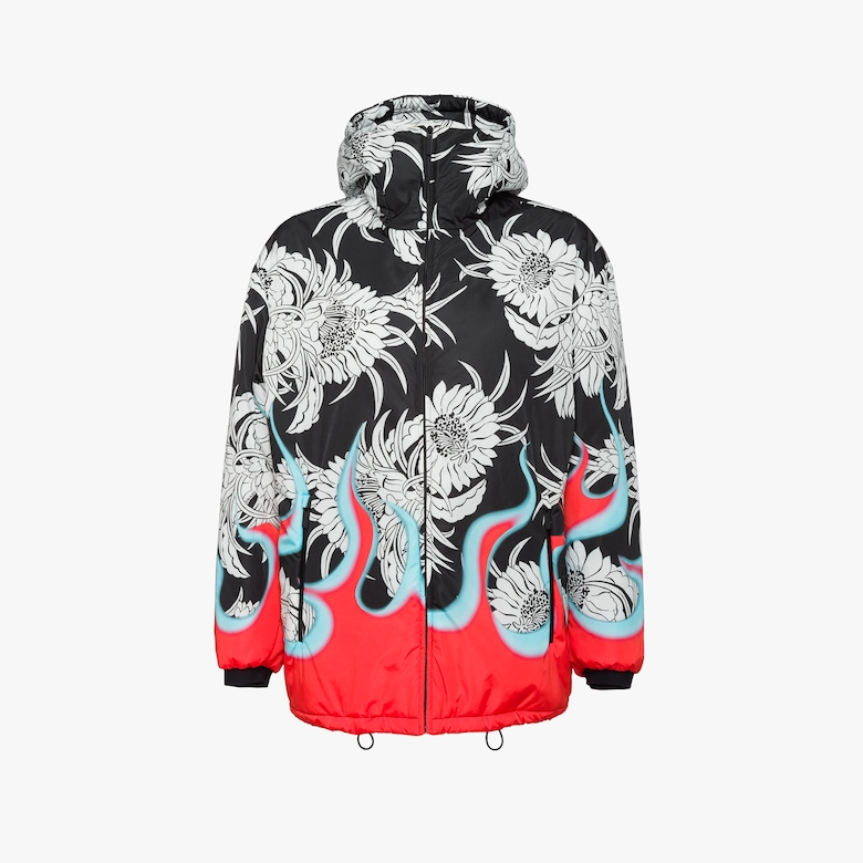 Padded feather nylon jacket