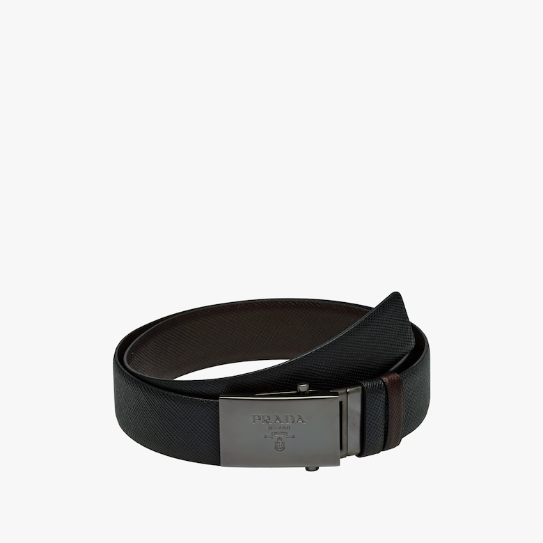 Saffiano Cuir Leather Reversible Belt