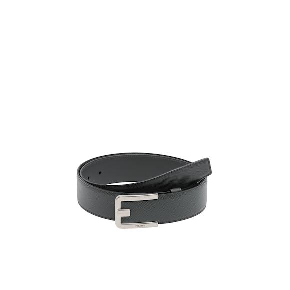 Cinturón de piel Saffiano
