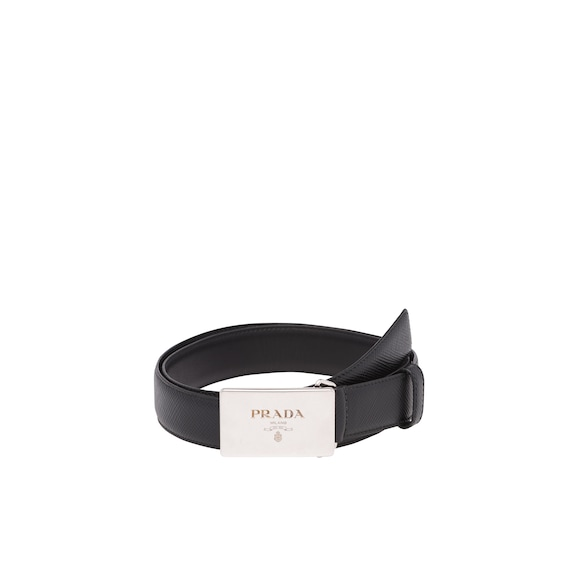Saffiano Cuir leather belt
