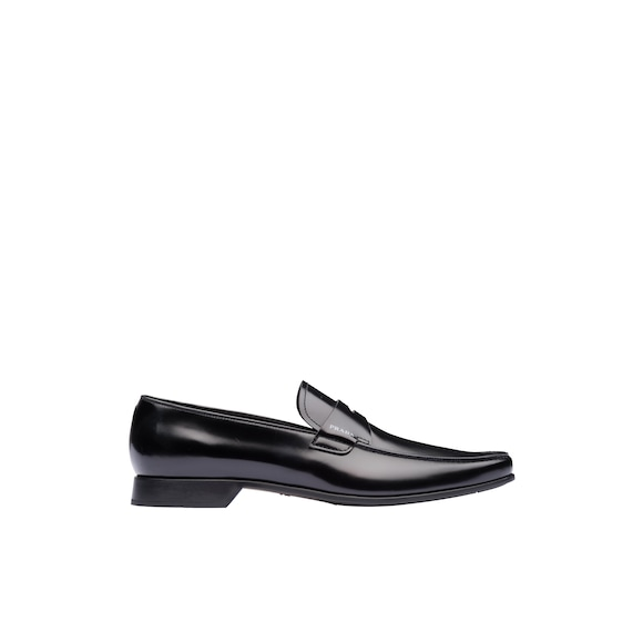 Brushed leather loafers