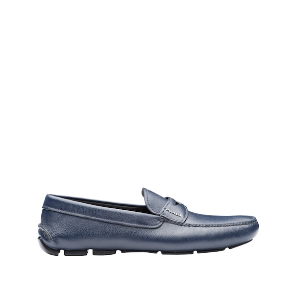 Saffiano Leather Driving Shoes