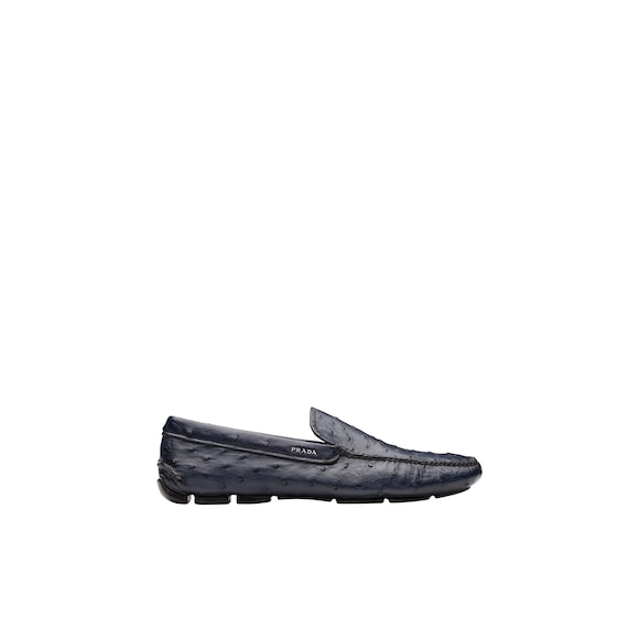 Driver ostrich loafers