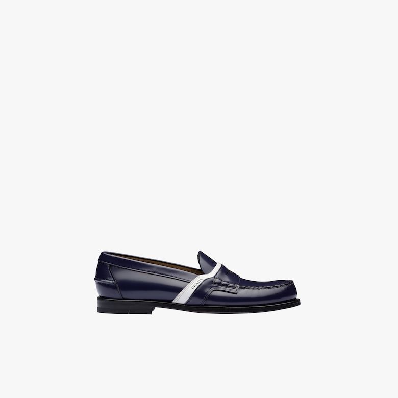Leather logo loafers