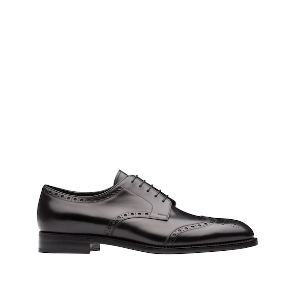 Calf leather laced derby shoes