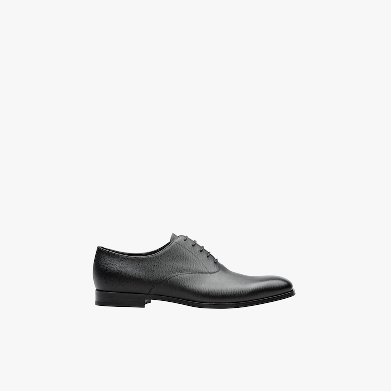Saffiano leather Oxford shoes