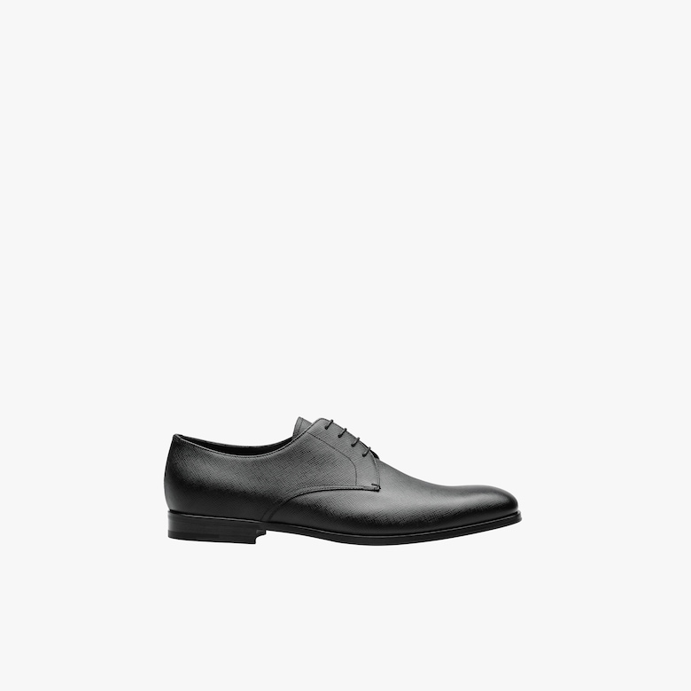 Derbies en cuir Saffiano