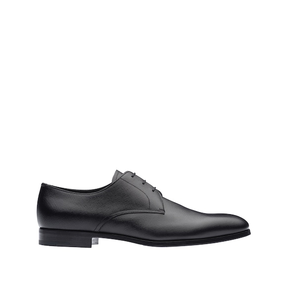 Saffiano Leather Derby Shoes