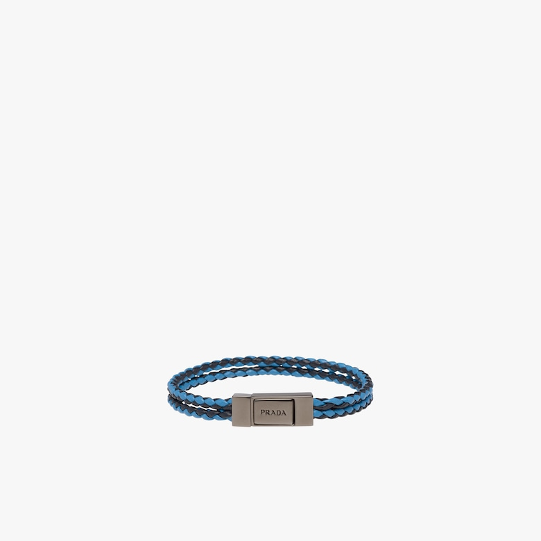 Prada braided leather bracelet siKB2pQ
