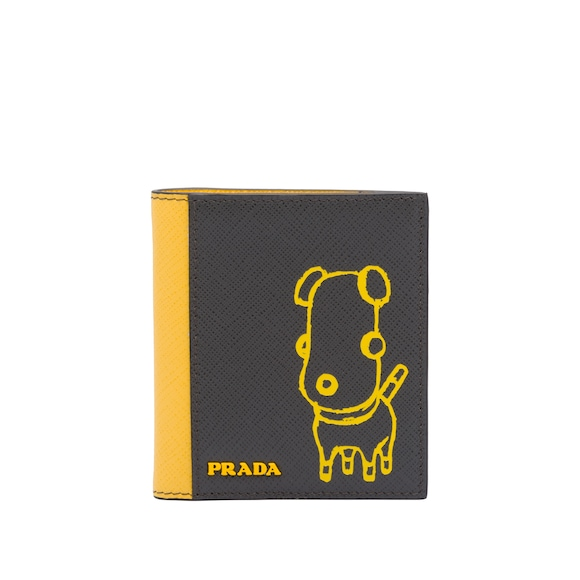 Pradamalia Saffiano leather wallet