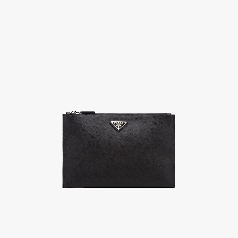 Saffiano Leather Pouch