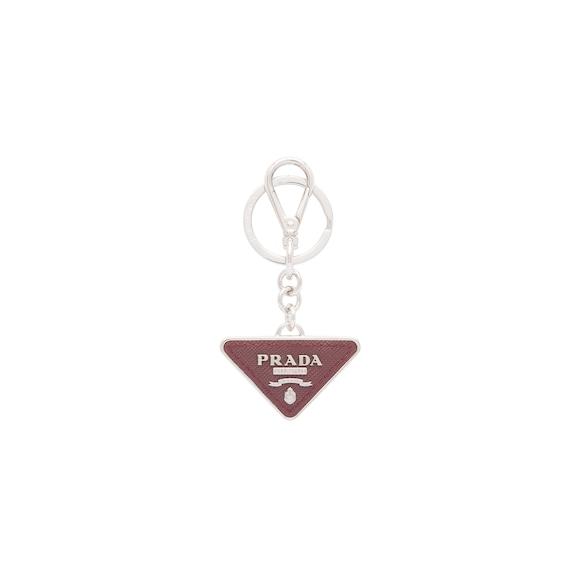 Saffiano leather keychain