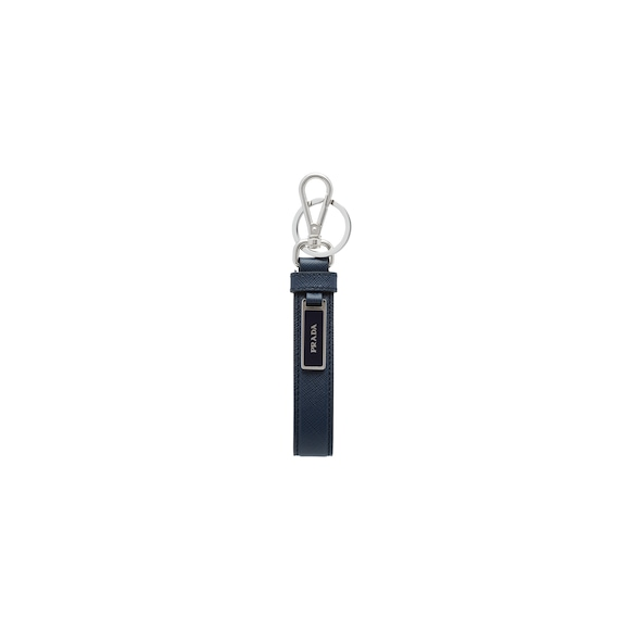 Saffiano Leather Keychain