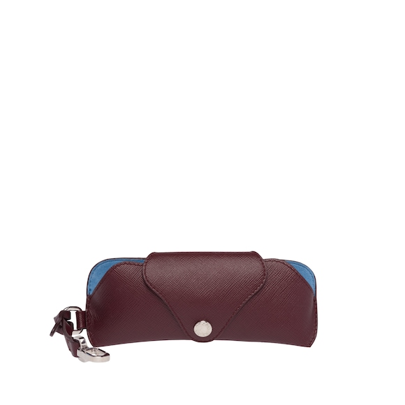 Saffiano leather glasses case