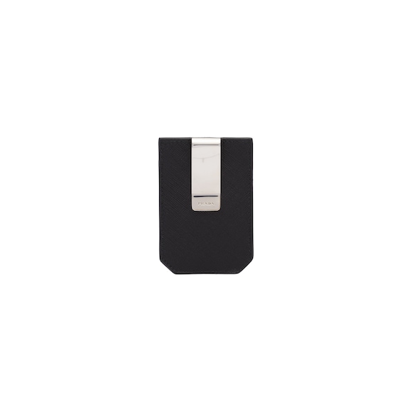 Saffiano leather money clip