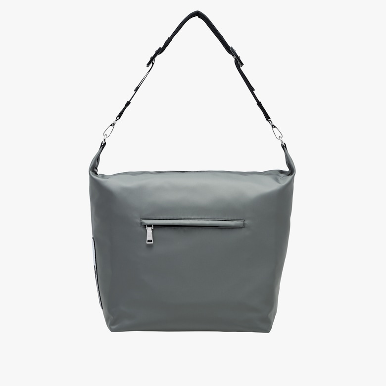 Technical fabric hobo bag with shoulder strap
