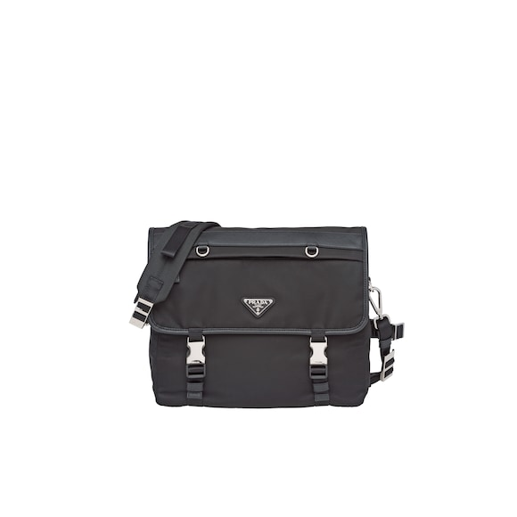 Nylon flap shoulder bag