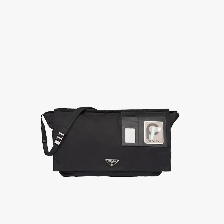 Technical fabric shoulder bag
