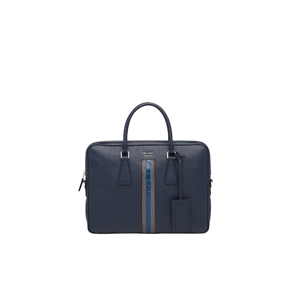 Saffiano leather work bag