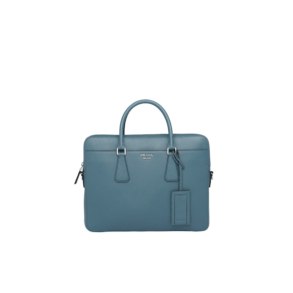 Saffiano Cuir leather briefcase