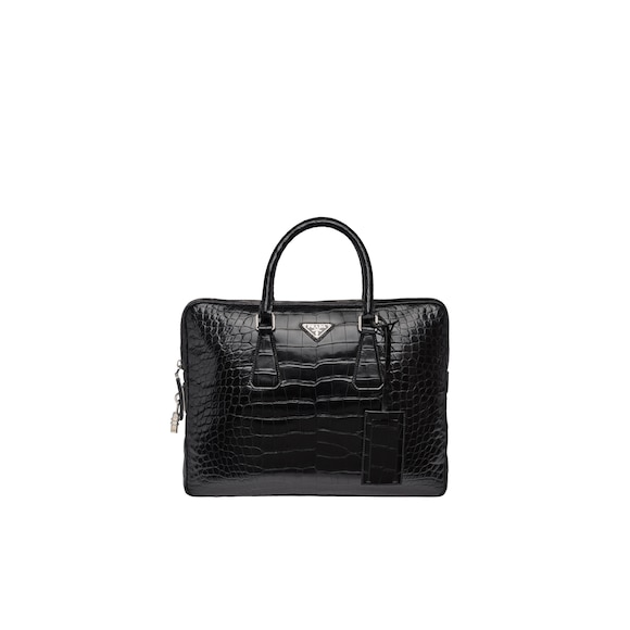 Crocodile Leather Briefcase