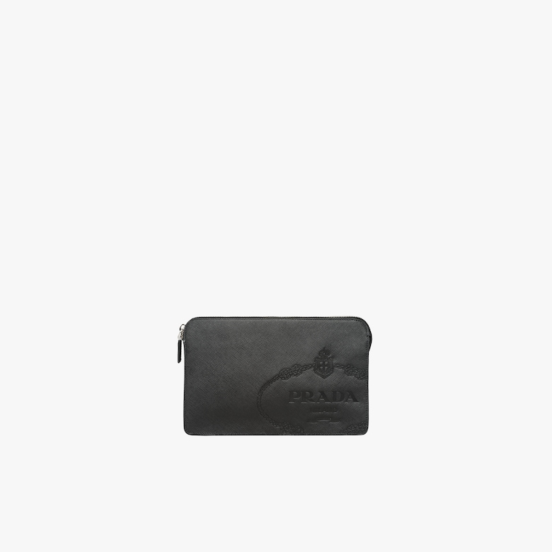 Saffiano leather men's bag