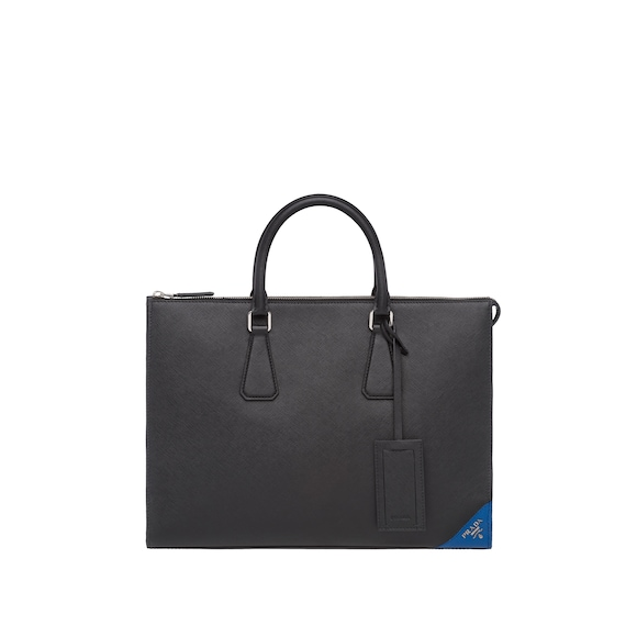 Saffiano leather horizontal tote