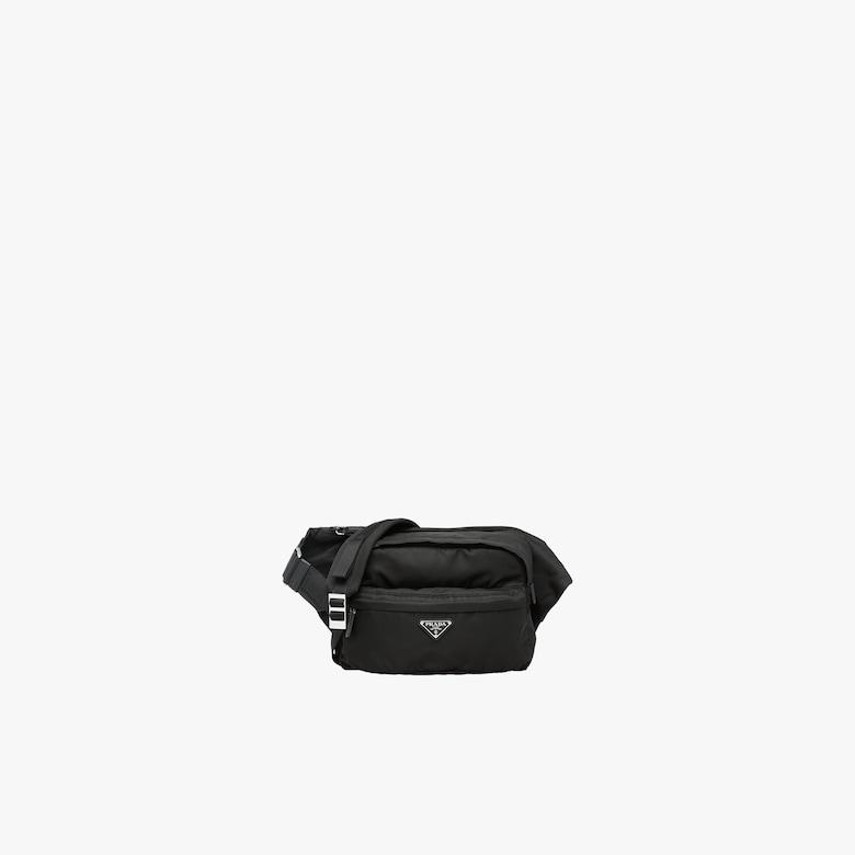 Technical fabric cross-body bag