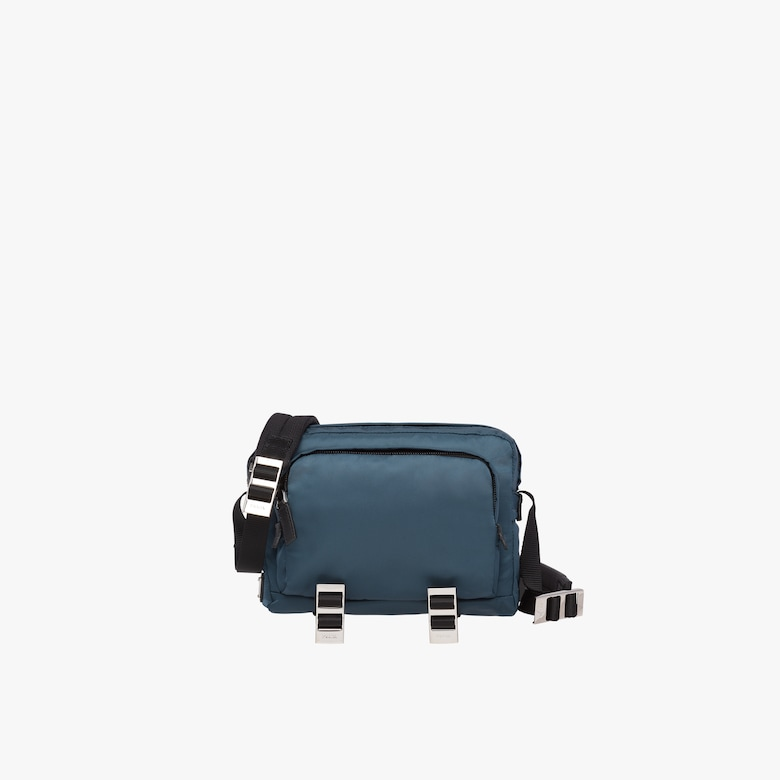 Technical fabric cross-body bag