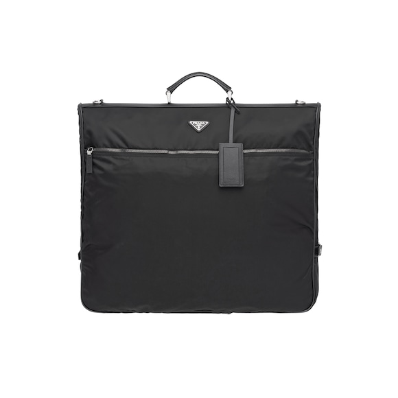 Saffiano leather and nylon garment bag