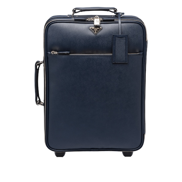 Saffiano Leather Trolley