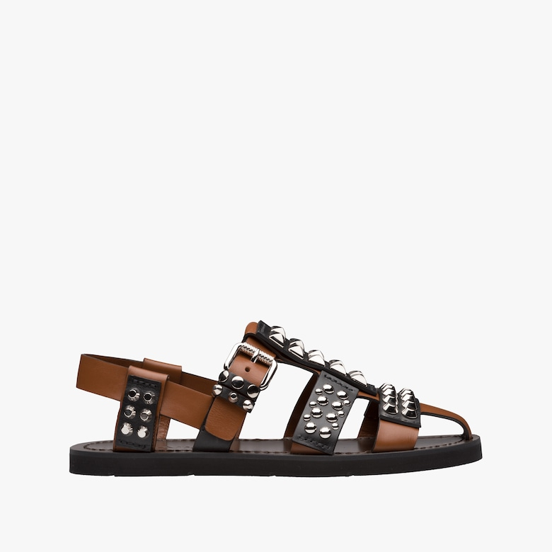 Sandals - Buckle Logo Sandals Leather Black - black - Sandals for ladies Prada U0ihEy9t9O