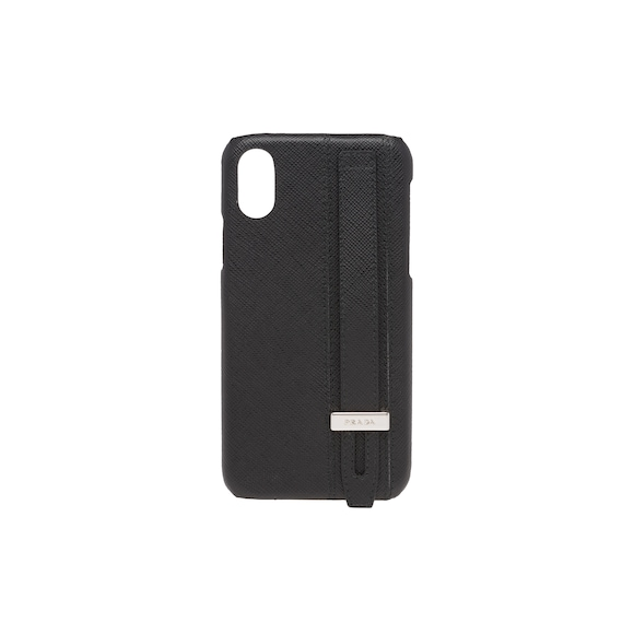 Cover in pelle Saffiano per iPhone X