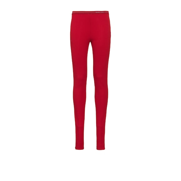 Jersey knit trousers